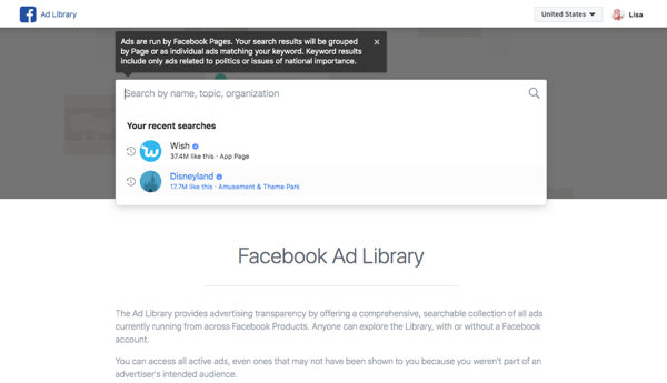 Research your competitor's Facebook ads step 5.