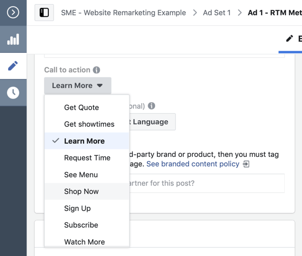 Use Facebook ads to advertise to people who visit your website, Step 13.
