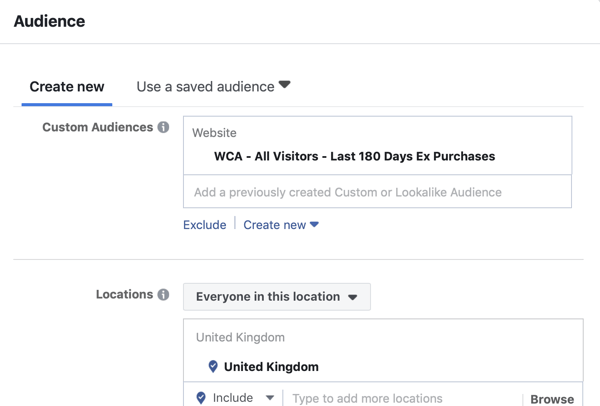 Use Facebook ads to advertise to people who visit your website, Step 8.