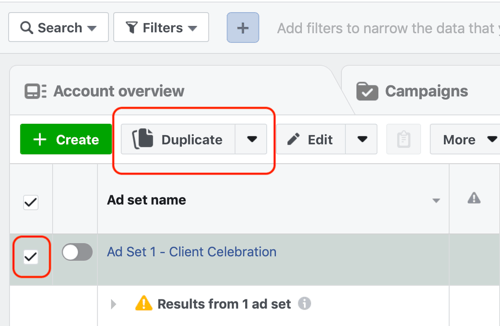 Create a Facebook ads reach campaign, step 8.