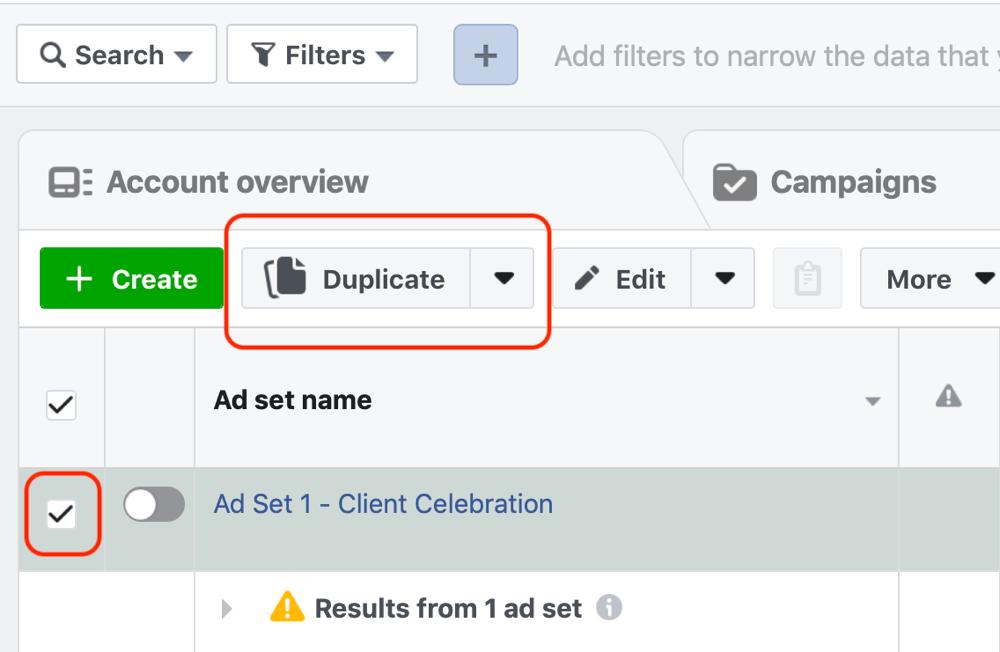 Créez une campagne Facebook pour atteindre les annonces, étape 8.