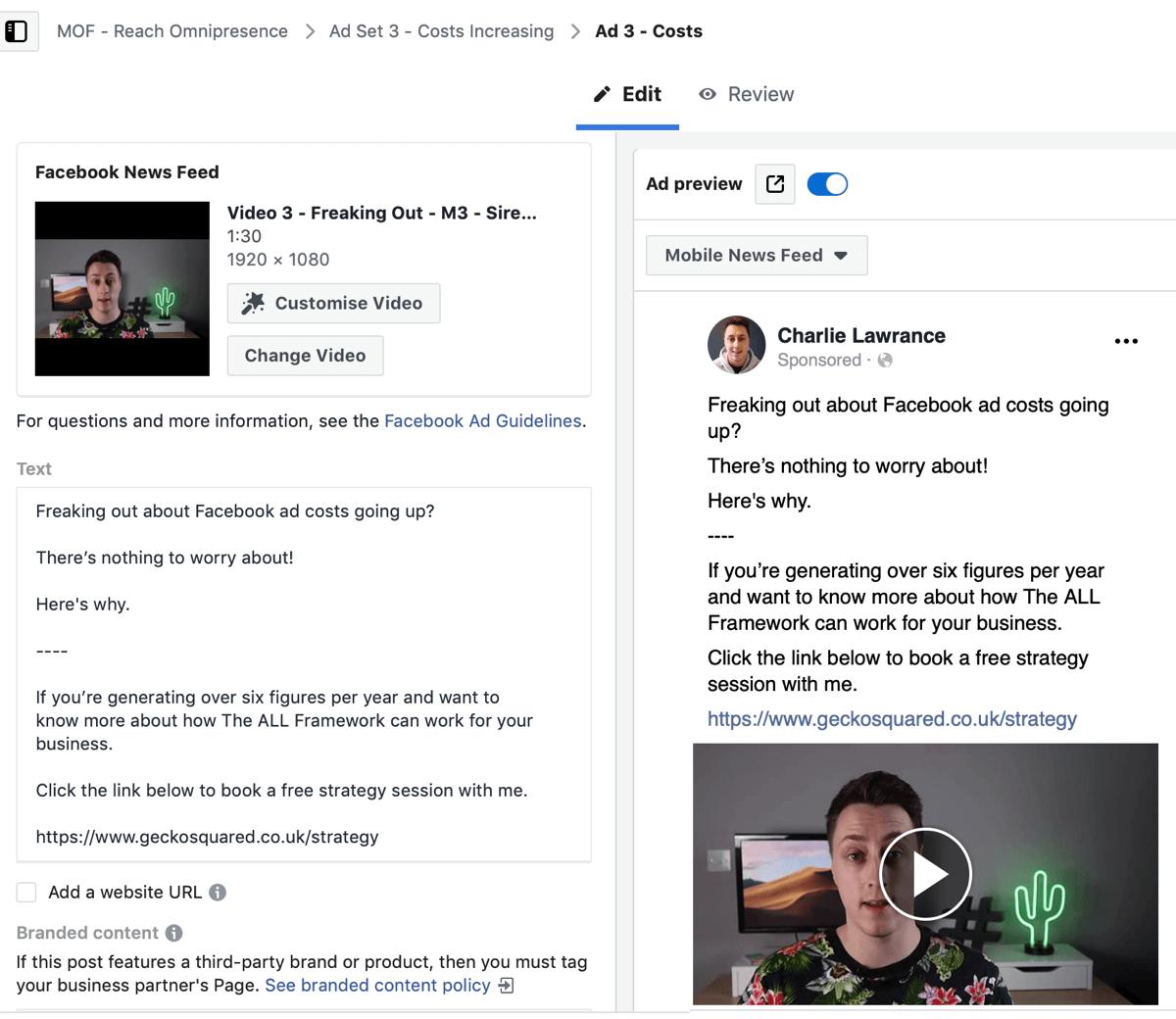 Créez une campagne Facebook pour atteindre les annonces, étape 6.