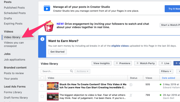 Use Facebook video ads to reach local customers, step 5.