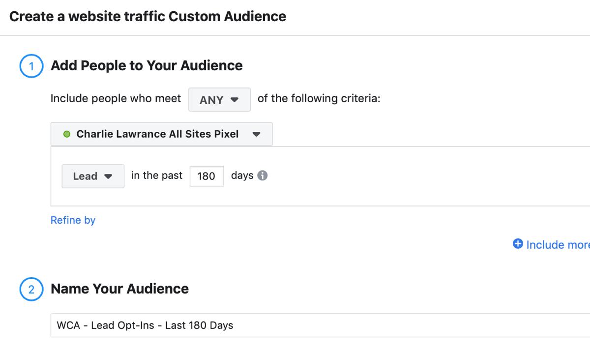 Créez une campagne Facebook pour atteindre les annonces, étape 2.