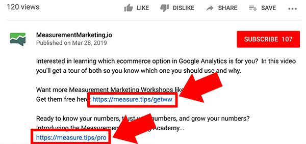 Google Analytics how to track traffic from YouTube channel to your website tip 1