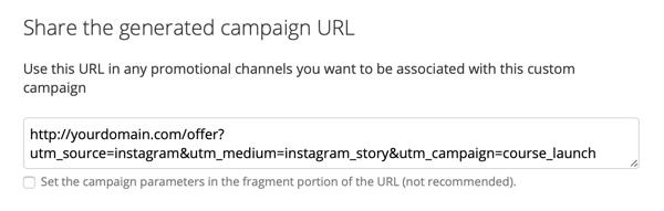 How to add UTM parameters to a URL, Step 2.