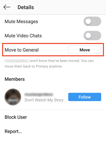 Mange Messages in the Instagram Creator Profile Direct Messages Inbox, Step 1.
