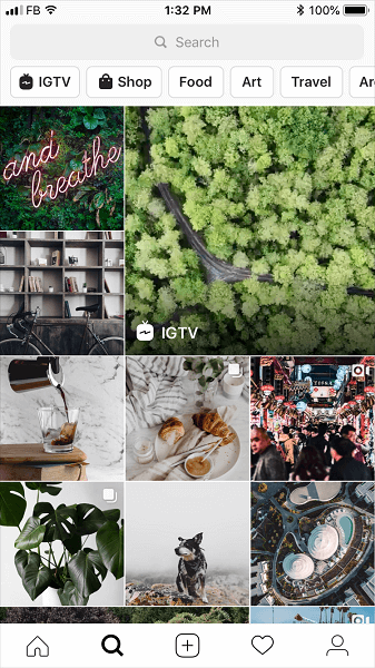 Instagram is rolling out a redesigned navigation bar for the Explore Tab.