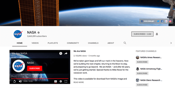 Add a profile picture and channel art to your YouTube home channel page.