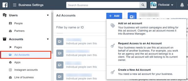 Use Facebook Business Manager, Step 11.
