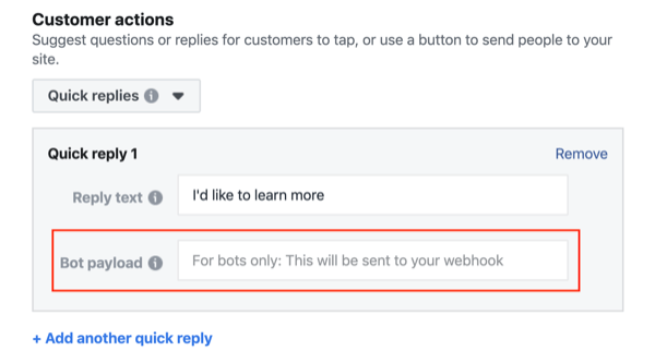 Facebook Click to Messenger ads, step 5.