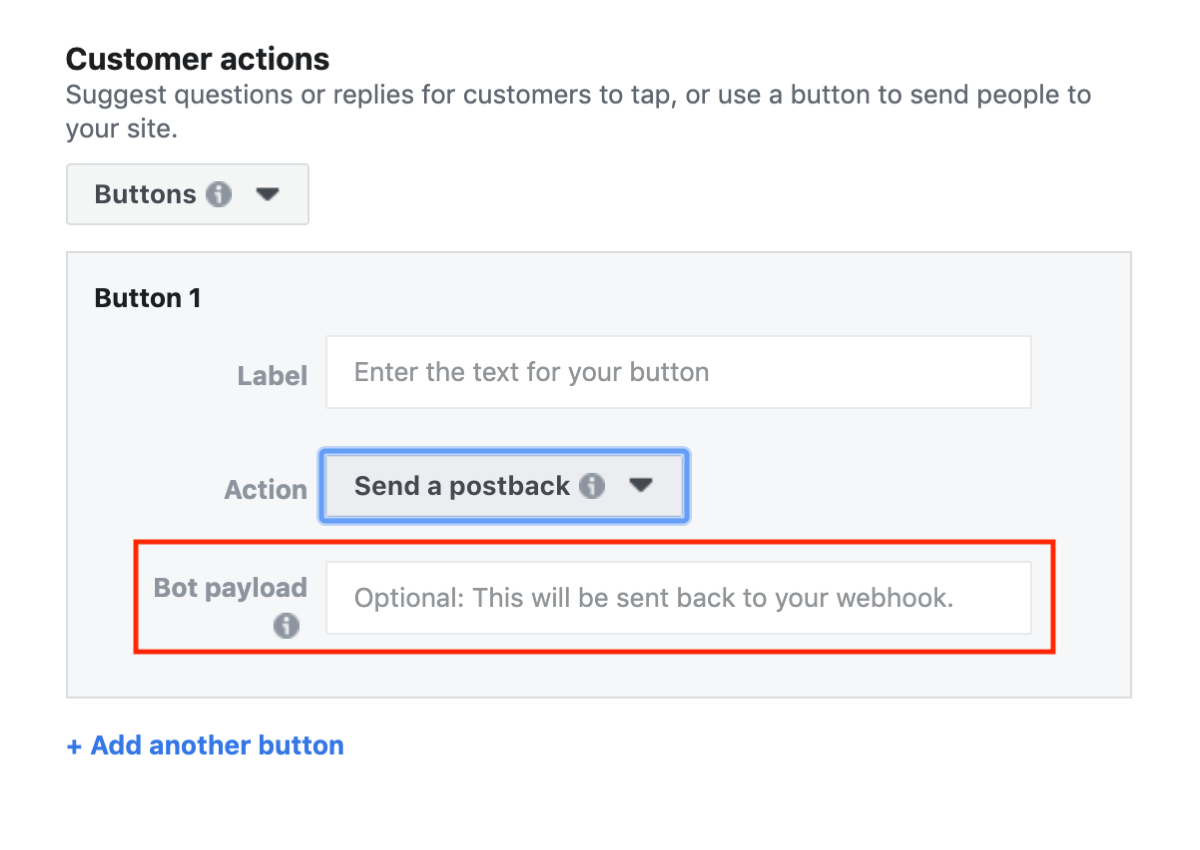 Facebook Click to Messenger ads, step 6.