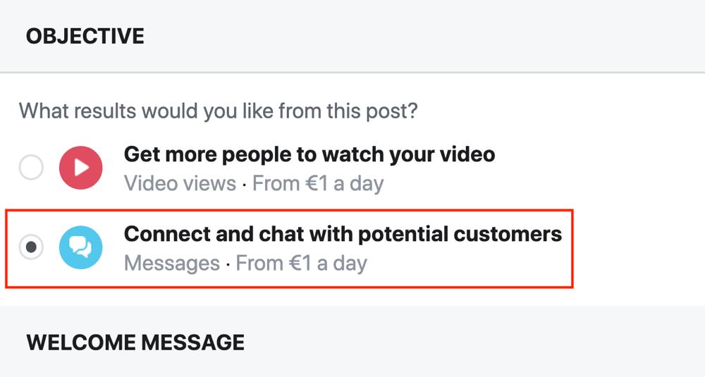 Facebook Messenger M.Me link, step 3.