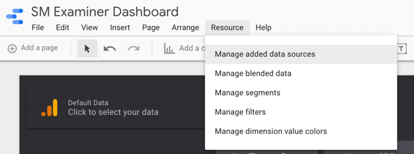 Use Google Data Studio, step 28.