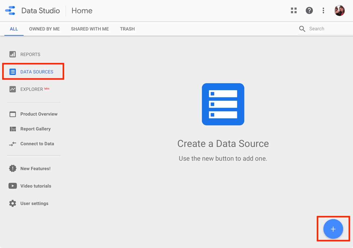 Use Google Data Studio, step 6.