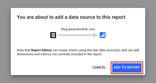Use Google Data Studio, step 13.