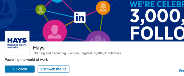 LinkedIn Page post example 6..