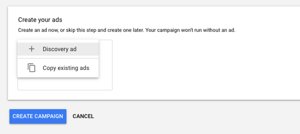 Set up YouTube TrueView Video Discovery Ads, step 12.