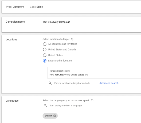 Set up YouTube TrueView Video Discovery Ads, step 4.