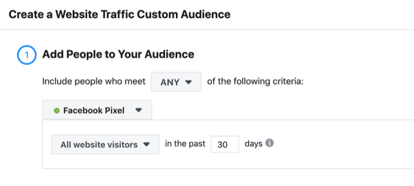Facebook ad funnels framework website custom audience.