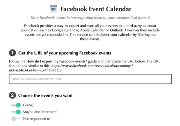 Social Media Marketing Podcast Discovery of the Week: Facebook Event Calendar.