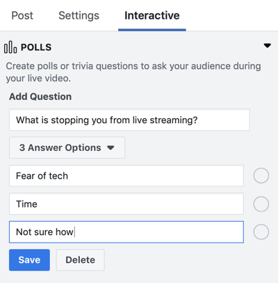 How to Use Facebook Live in Your Marketing, step 5.