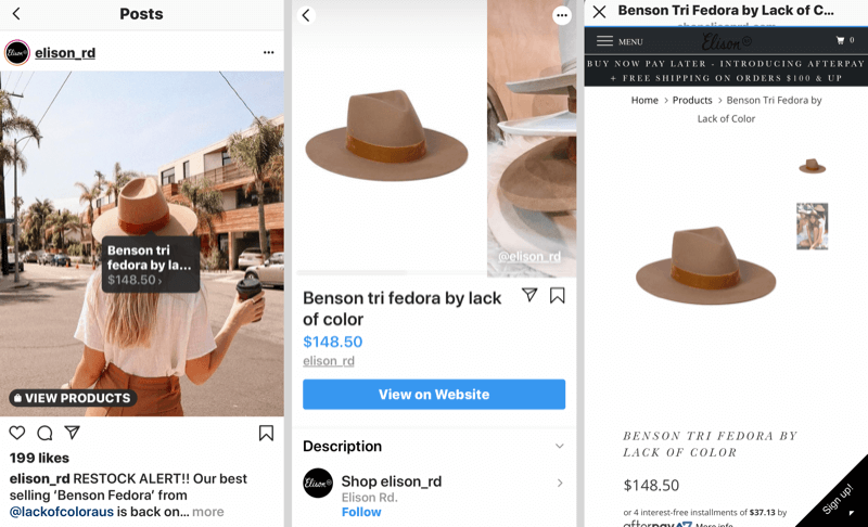 How to Sell More Products on Instagram, Instagram product tags example.