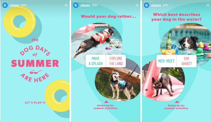 Voorbeeld van advertenties voor Instagram-verhalen.