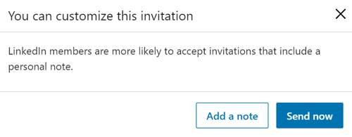Customize LinkedIn Messages, step 3.