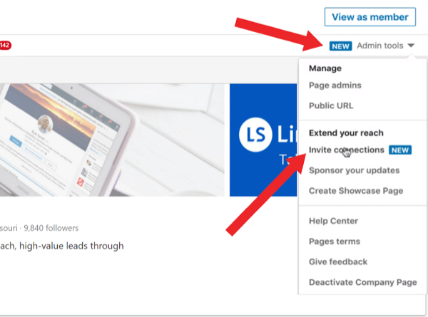 Invite Connections to Follow Your LinkedIn Page, step 1.