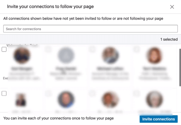 Invite Connections to Follow Your LinkedIn Page, step 2.