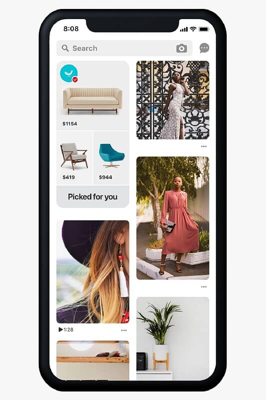 Pinterest introduced more dedicated and personalized shopping recommendations in the Home Feed with browsable catalogs and personalized hubs of shoppable ideas.