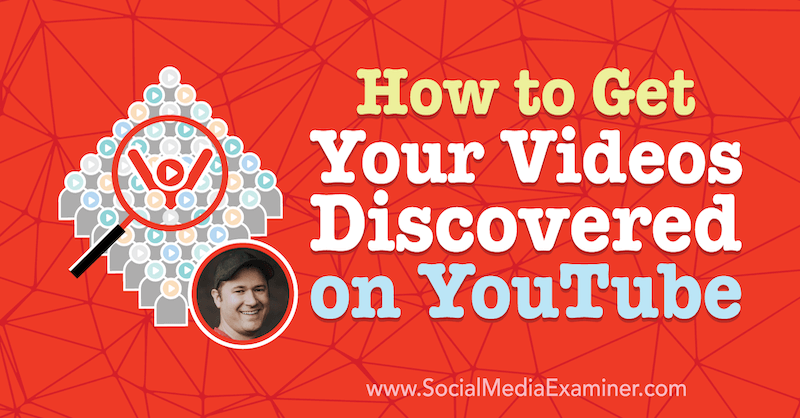 How to Get Your Videos Discovered on YouTube featuring insights from Tim Schmoyer on the Social Media Marketing Podcast.