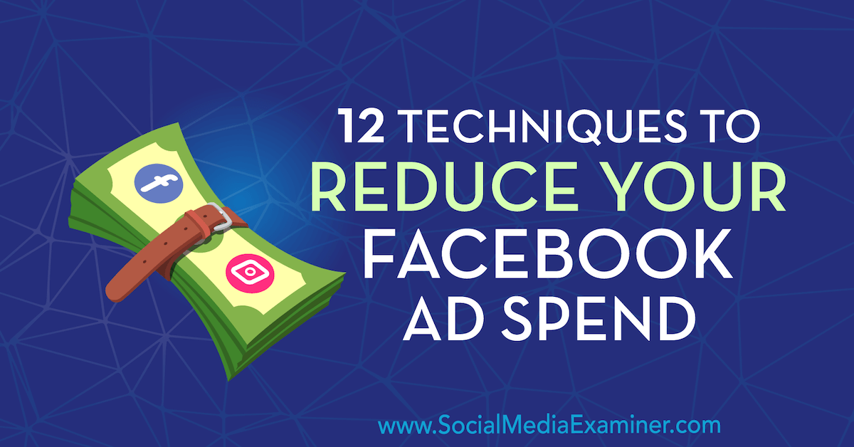 12 Techniques to Reduce Your Facebook Ad Spend