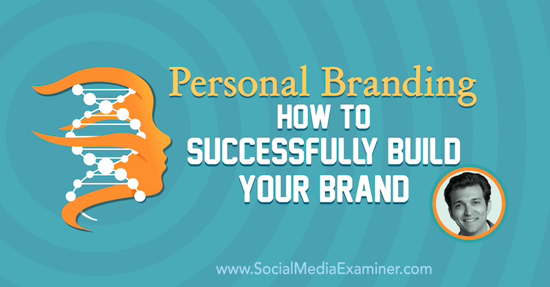 Personal Branding: How to Successfully Build Your Brand featuring insights from Rory Vaden on the Social Media Marketing Podcast.