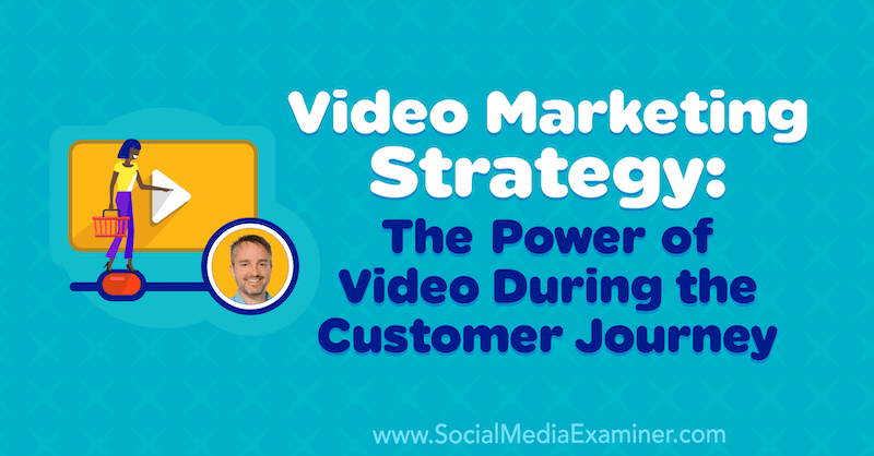 Video Marketing Strategy: The Power of Video During the Customer Journey featuring insights from Ben Amos on the Social Media Marketing Podcast.