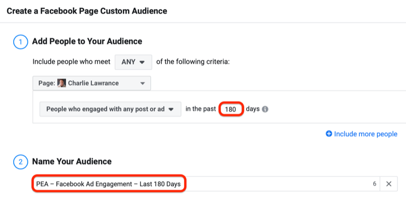 facebook how to create enagement custom audience step 4 800 - How to Retarget Ads to Engaged Instagram and Facebook Fans