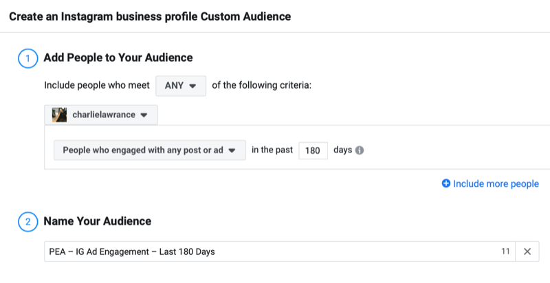 facebook how to create enagement custom audience step 6 800 - How to Retarget Ads to Engaged Instagram and Facebook Fans