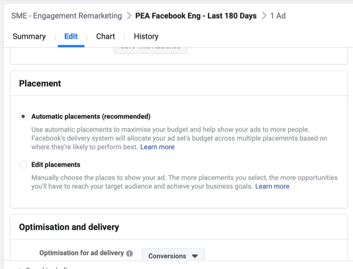 facebook how to set up engagement remarketing campaign step 4 700 - How to Retarget Ads to Engaged Instagram and Facebook Fans