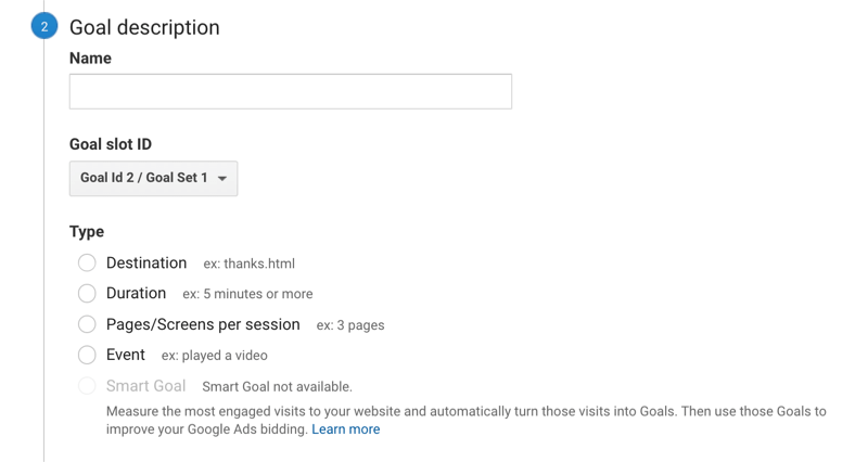 google analytics goals how to set up step 1 800 - 6 Social Media Marketing Attribution Models and Tools to Help Marketers