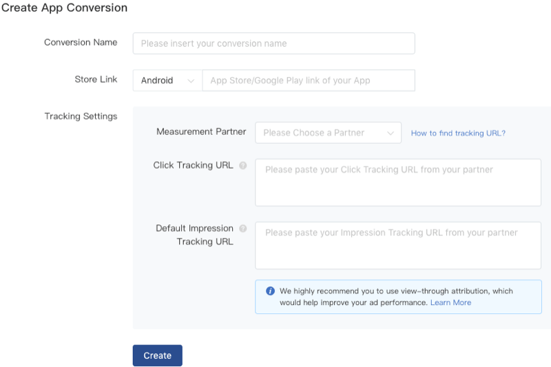 Créer un objectif de conversion d'application sur TikTok Ads