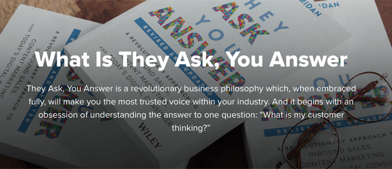 Marcus Sheridan's 'they ask, you answer' philosophy