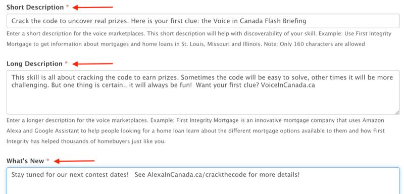 steps to create Amazon Alexa skill with VoiceXP