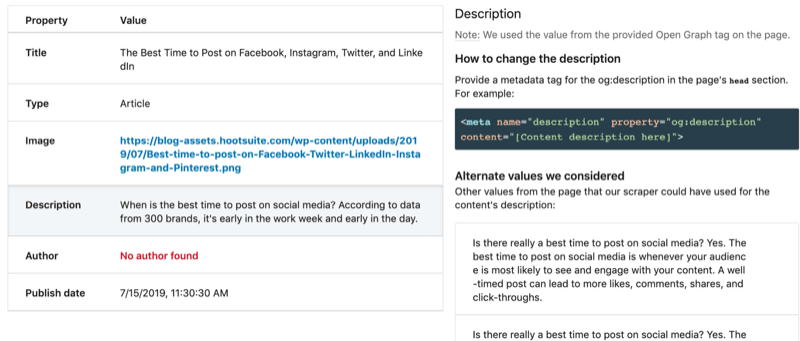 step by step walkthrough for how to clear the cache using the LinkedIn Post Inspector