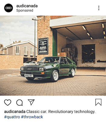 example of instagram ad using branded hashtag