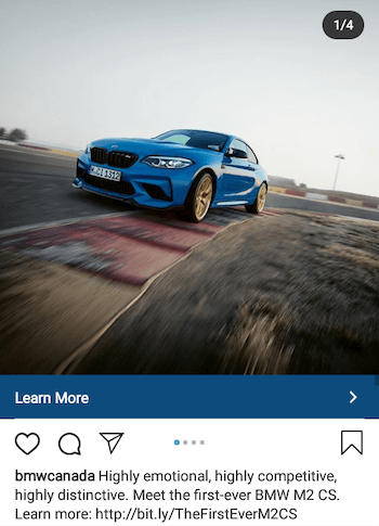 example of Instagram ad emphasizing a unique value proposition (UVP)