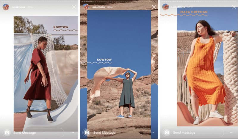 business example of lifestyle content shared in Instagram Stories