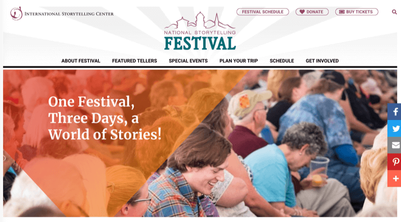 National Storytelling Festival website