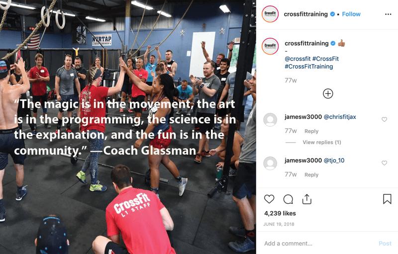 example of social media post reflecting unity principal