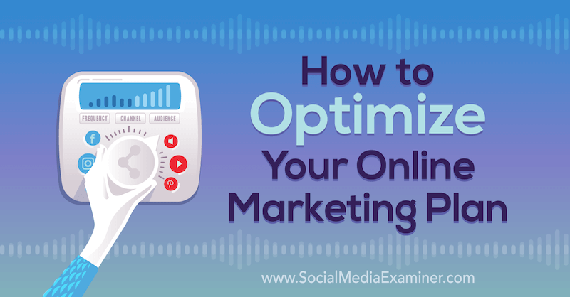 How to Optimize Your Online Marketing Plan: A 4-Step Process by Janette Speyer on Social Media Examiner.
